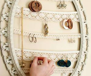 diy, earrings, and lace image