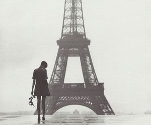 paris, twiggy, and eiffel tower image