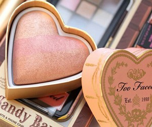 too faced, blush, and makeup image