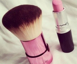 pink, mac, and lipstick image