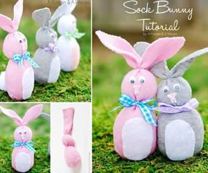 diy easter sock bunny image