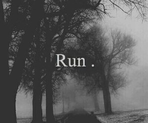 run and black image