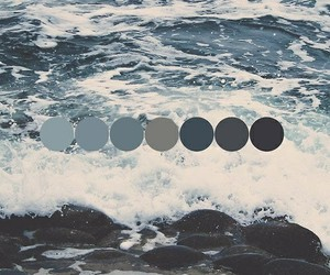 blue, sea, and black image