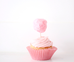 cupcake, cotton candy, and cake image