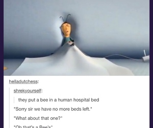 bee, funny, and tumblr image
