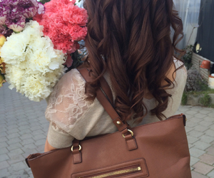 bag, beauty, and flowers image