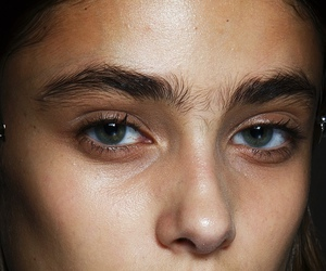 eyes, model, and eyebrows image