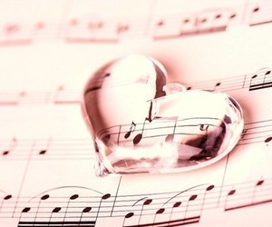 music, heart, and pink image