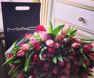 flowers, mac, and pink image