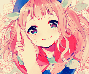 anime, flowers, and happy image