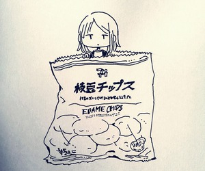 anime, art, and chips image
