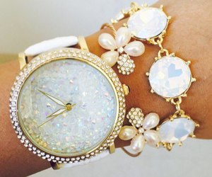accessories, diamond, and watch image