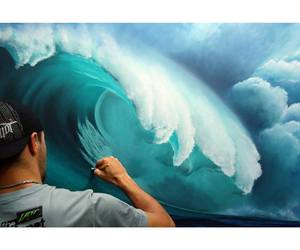art, waves, and artist image