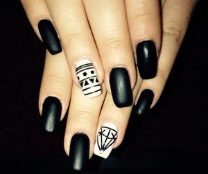 aztec, black, and nail art image