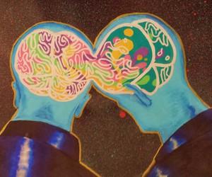 brain, rational, and creativity image