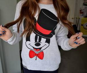 fashion, mickey mouse, and sweater image