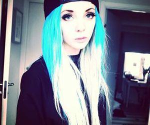 alt girl, colorfull hair, and blue hair image