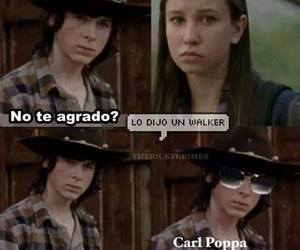 enid, the walking dead, and chandler riggs image