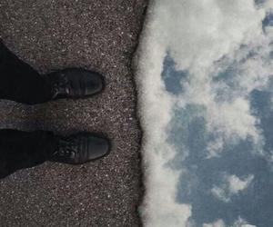 sky, grunge, and sea image