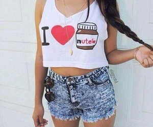 nutella, style, and outfit image