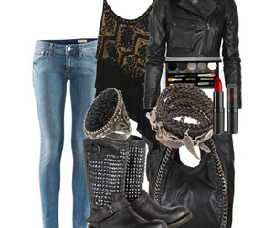 bag, boots, and jeans image