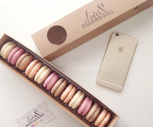 food, iphone, and macaroons image