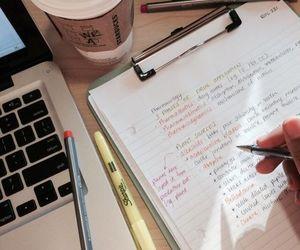 school, study, and coffee image