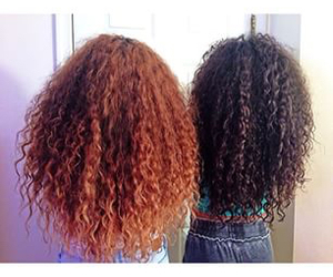 hair, curly hair, and girls image