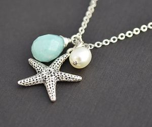 blue, necklace, and starfish image