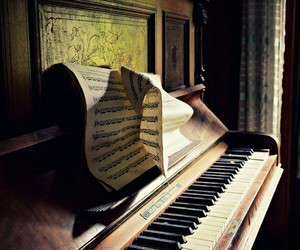 music, piano, and retro image