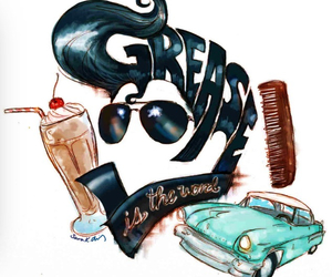 grease, drawing, and movie image