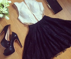 bag, beautiful, and dress image