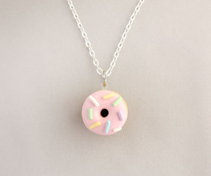 donut, necklace, and cute image