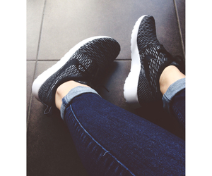 black, grey, and nike image