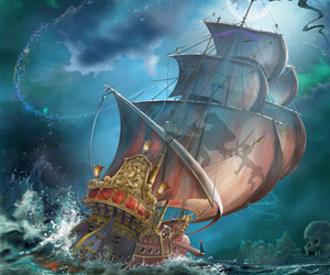 peter pan, disney, and pirate image