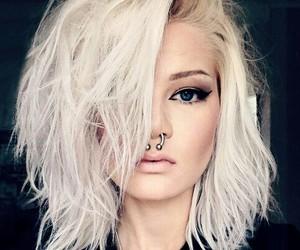 girl, piercing, and makeup image