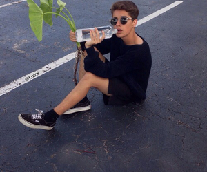 boy, grunge, and plants image