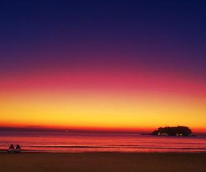 beach, sunrise, and Island image