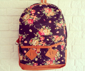 bag, floral, and cute image