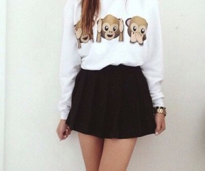 outfit, monkey, and skirt image