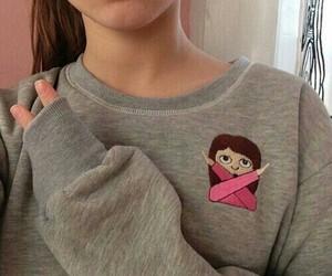 girl, emoji, and tumblr image