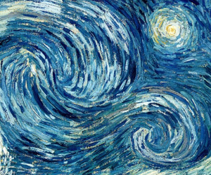 art, blue, and van gogh image