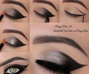 beautiful, black, and eyebrow image
