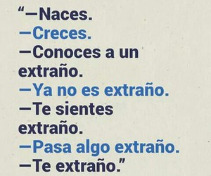 love, extrano, and frases image