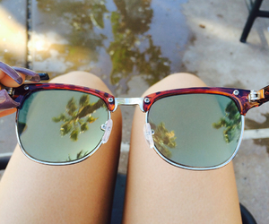 beautiful, glasses, and palm trees image