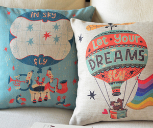 colorful, cushion, and Dream image