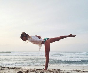 beach, girl, and fit image