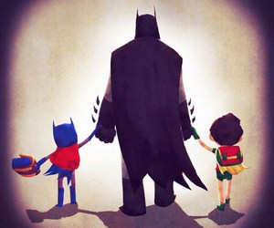 batman, robin, and heroes image