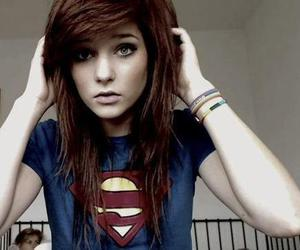 girl, hair, and superman image