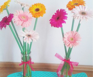 boyfriend, flowers, and gerberas image